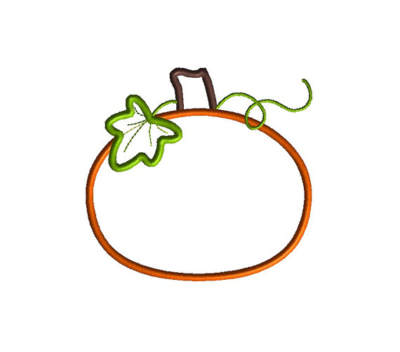 Harvest Pumpkin Applique Machine Embroidery Design 2