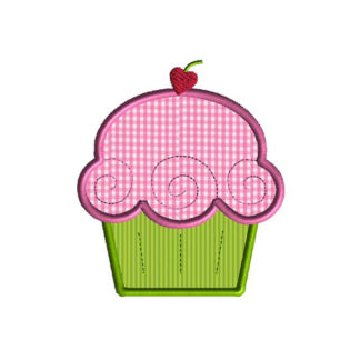 Cupcake Deluxe Applique Machine Embroidery Design 1