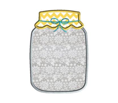 Mason Jar Applique Machine Embroidery Design 2