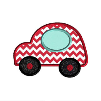 Car II Applique Machine Embroidery Design 1
