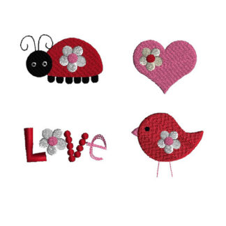 Mini Love Machine Embroidery Design Set