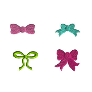 Mini Bows Machine Embroidery Design Set