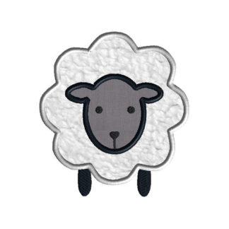Little Lamb Applique Machine Embroidery Design 1