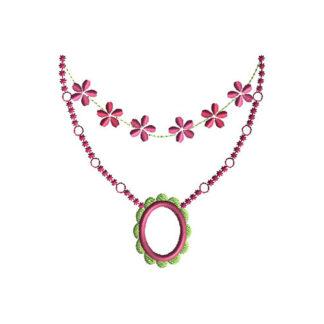 Necklace Applique Machine Embroidery Design 1