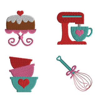 Mini Kitchen Machine Embroidery Design Set