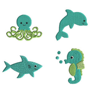 Mini Sea Friends Machine Embroidery Design Set