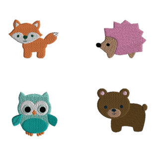 Mini Woodland Animals Machine Embroidery Designs
