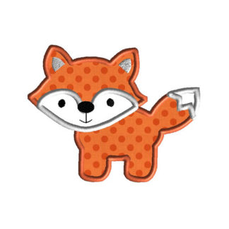 Fox II Applique Machine Embroidery Design 1