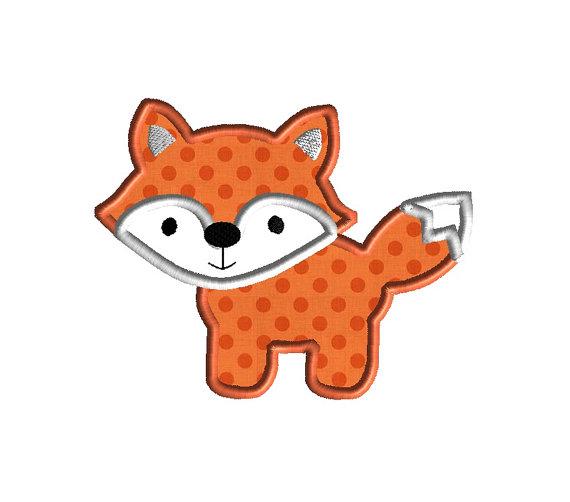 Fox II Applique Machine Embroidery Design 1