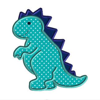 Dino Applique Machine Embroidery Design 1