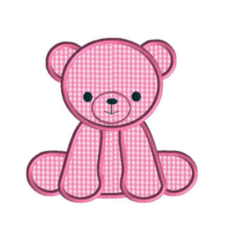 Little Bear Applique Machine Embroidery Design 1