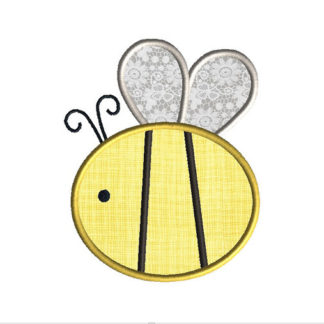 Bumble Bee 2 Applique Machine Embroidery Design 1