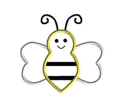Bee Applique Machine Embroidery Design 2