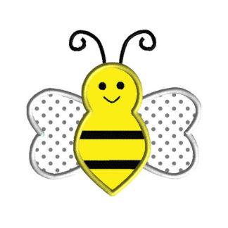 Bee Applique Machine Embroidery Design 1