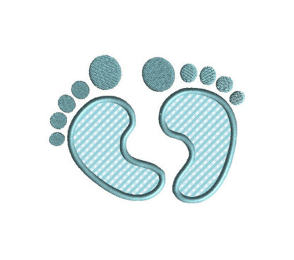Baby Feet Applique Machine Embroidery Design 2