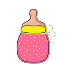 Baby Bottle 2 Applique Machine Embroidery Design 1