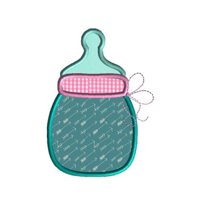 Baby Bottle 2 Applique Machine Embroidery Design 2