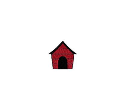 Mini Dog House Embroidery Design