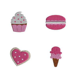 Mini Sweet Shop Machine Embroidery Design Set