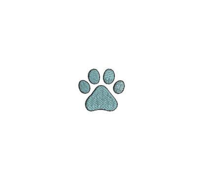Mini Dog Paw Print Embroidery Design