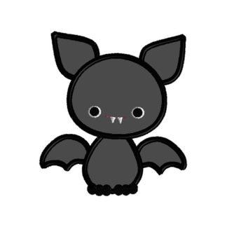Baby Bat Applique Machine Embroidery Design 1