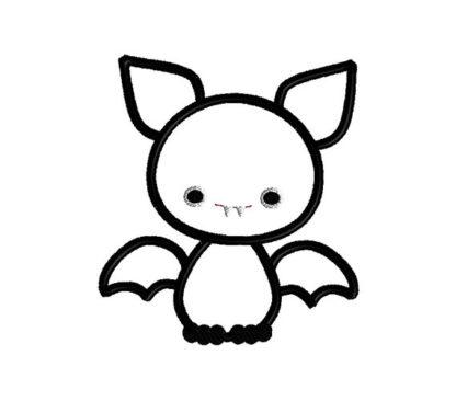 Baby Bat Applique Machine Embroidery Design 2