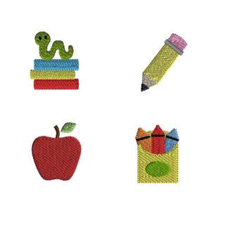 Mini School Machine Embroidery Designs