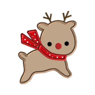 Reindeer II Applique Machine Embroidery Design 1