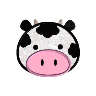 Cow Face Applique Machine Embroidery Design 1
