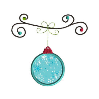 Hanging Ornament II Applique Machine Embroidery Design 1