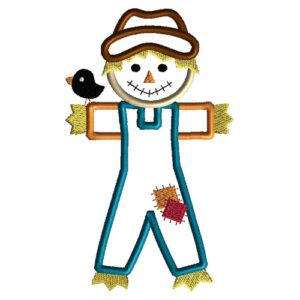 Scarecrow Applique Machine Embroidery Design 1