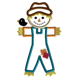 Scarecrow Applique Machine Embroidery Design 1