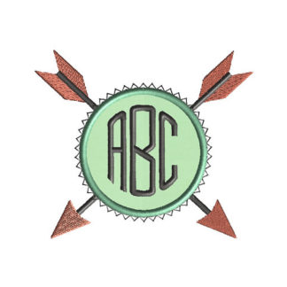 Arrow Monogram Frame Applique Machine Embroidery Design 1