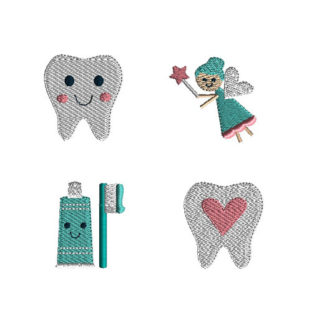 Mini Tooth Fairy Machine Embroidery Design Set