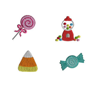 Mini Candy Machine Embroidery Design Set