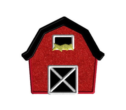 Barn Applique Machine Embroidery Design 3