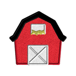 Barn Applique Machine Embroidery Design 1