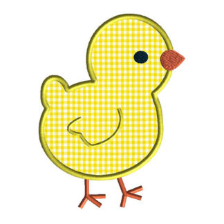 Baby Chick 2 Applique Machine Embroidery Design 1