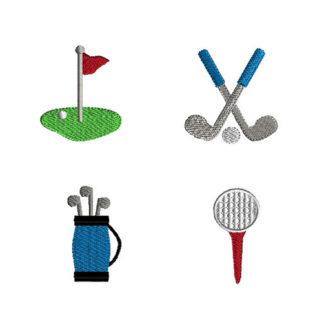 Mini Golf Machine Embroidery Design Set