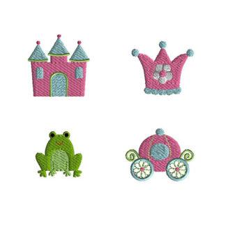 Mini Princess Machine Embroidery Design Set