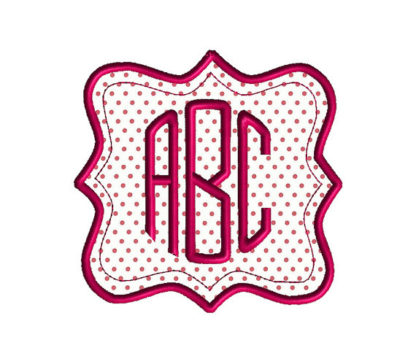 Bracket Square Frame Applique Machine Embroidery Design 1