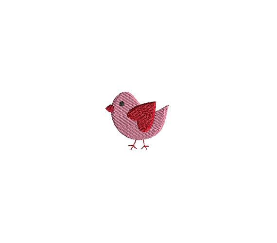Mini Valentine Bird Machine Embroidery Design