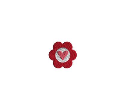Mini Heart Flower Machine Embroidery Design