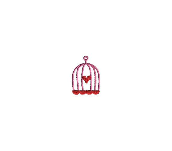 Mini Bird Cage Machine Embroidery Design