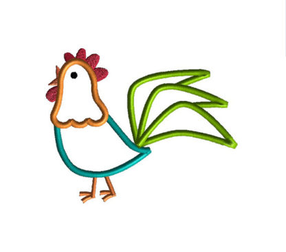 Rooster Applique Machine Embroidery Design 1