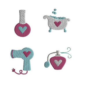 Mini Spa Machine Embroidery Design Set