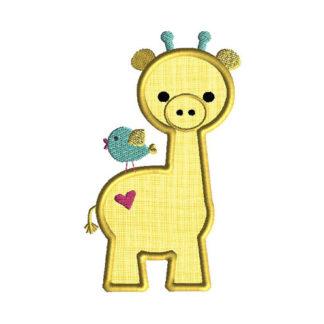 Baby Giraffe Applique Machine Embroidery Design 1