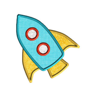 Rocket 2 Applique Machine Embroidery Design 1