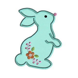Rabbit 2 Applique Machine Embroidery Design 1