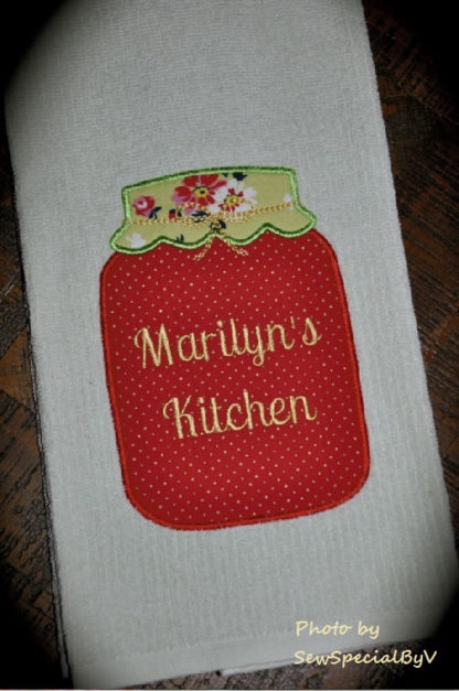 Mason Jar Applique Machine Embroidery Design 3